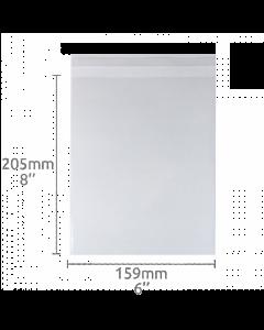 6x8 inch (159x205mm) Self Seal Compostable Bag 100 Pk