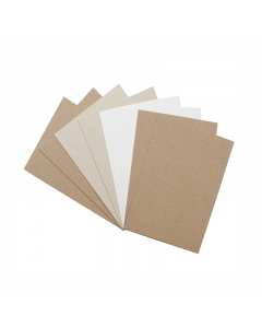 A5 Recycled Natural Thin Card 100Pk