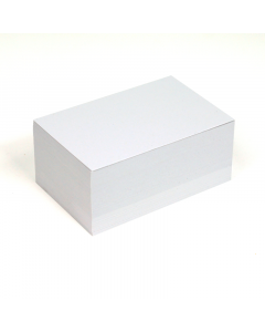 Blank Business Cards 100Pk - White