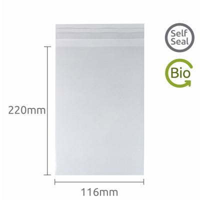 116x220mm Self Seal Compostable 100 Pk