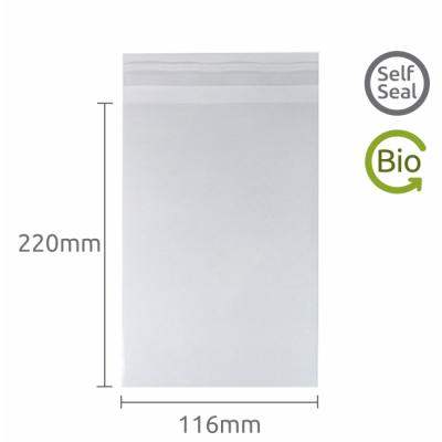 116x220mm Self Seal Compostable 50 Pk