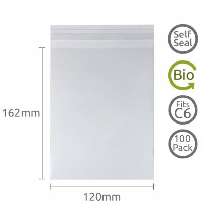 120x162mm (C6) Self Seal Compostable 100 Pk