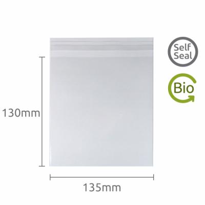 130x135mm Self Seal Compostable and Bio-degradable bag 100 Pk