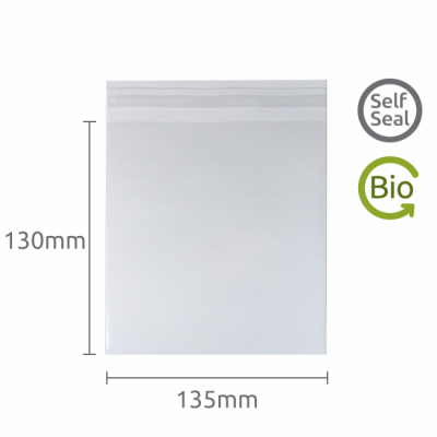 130x135mm Self Seal Compostable and Bio-degradable bag 50 Pk