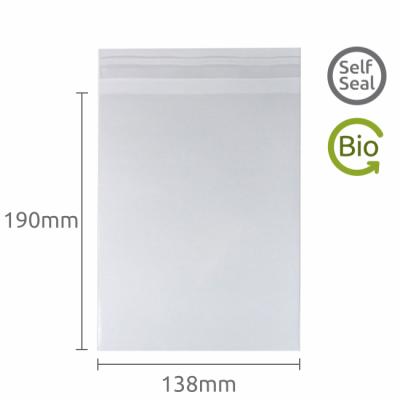 138x190mm Self Seal Compostable 100 Pk