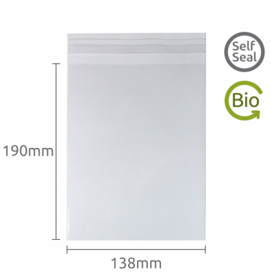 138x190mm Self Seal Compostable 1000 Pk