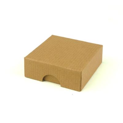 50x50x17mm Box & Lid - Ribbed Brown 10Pk.