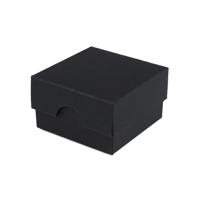 50x50x30mm Box & Lid - Black 10Pk.