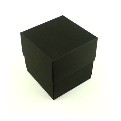 90x90x95mm (candle) Box & Lid - Black 10Pk.