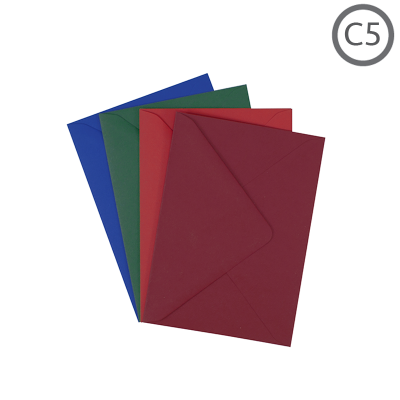 C5 Recycled Envelope Colours 10Pk