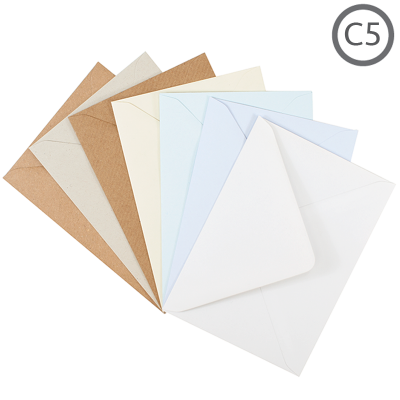 C5 Recycled Envelope Natural 10Pk