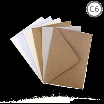 C6 Recycled Envelope Natural 100Pk