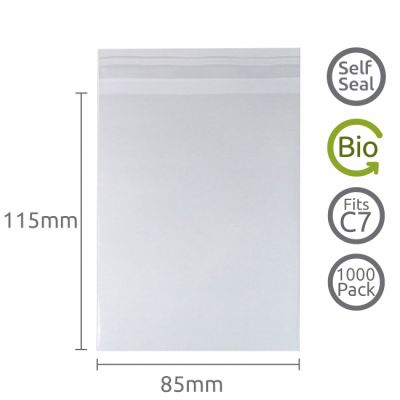85x115mm Self Seal Compostable 1000 Pk