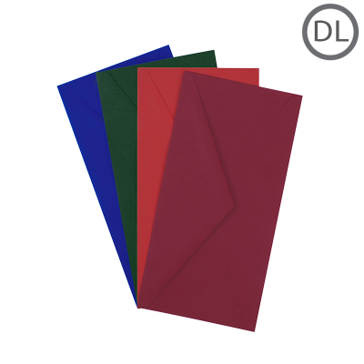 DL Recycled Envelope Colours 10Pk