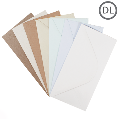 DL Recycled Envelope Natural 100Pk