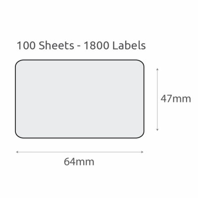 L18 Plain Recycled Labels (64x47mm) 100Pk