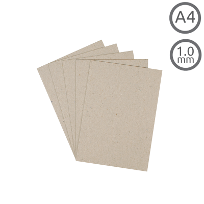 A4 Recycled 1mm Greyboard 10Pk